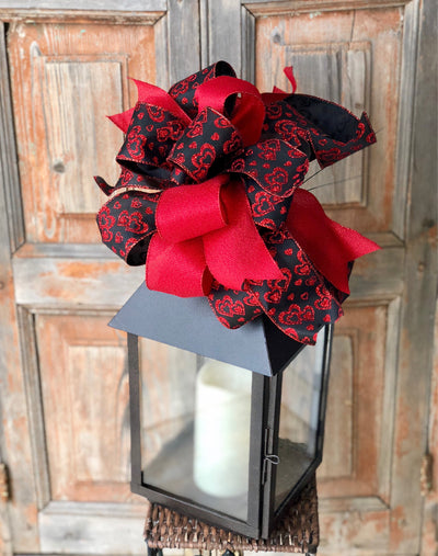 The Deanna Red & Black Valentines Day Bow