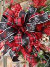 The Tabitha Rustic Winter Berry Iced Wreath