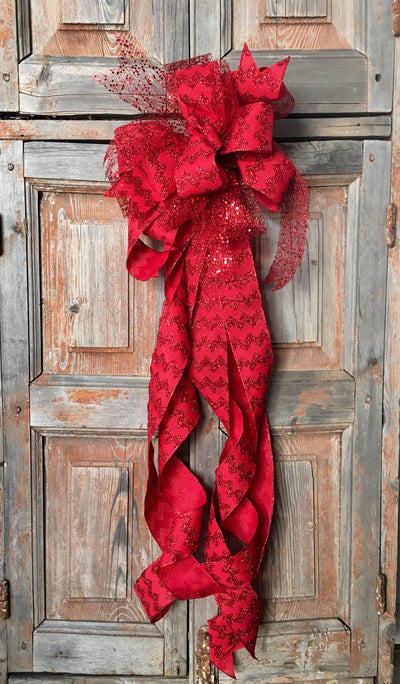 The Dorothy Red Chevron Bow