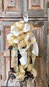 The Chelsea Gold & White Christmas Bow