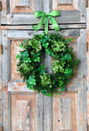 The Aileen St Patricks day shamrock wreath~shamrock wreath for front door~all season wreath~wedding wreath~st patty wreath~luck of the irish