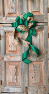 The Ashley Green & Red Christmas Bow