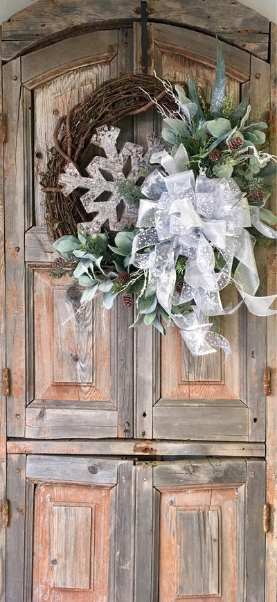The Anastasia Rustic Woodland Winter Wreath