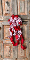 The Isabella Red & White Winter Bow