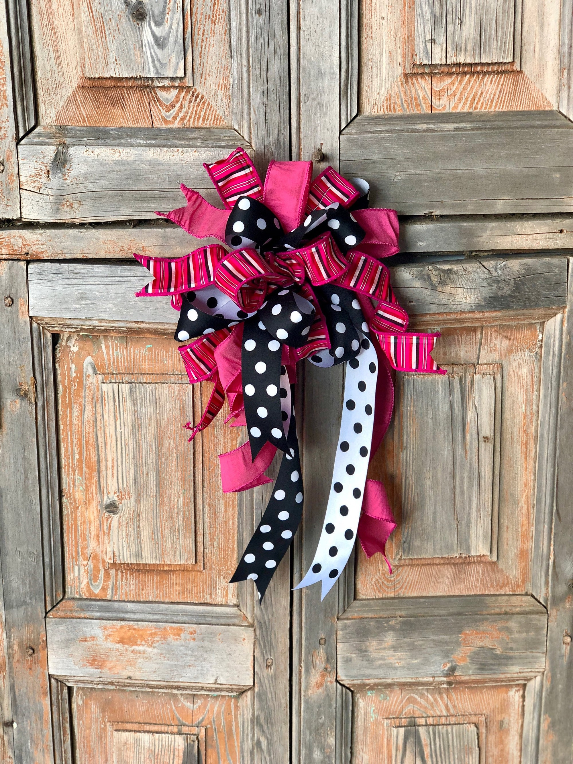 The Layla Hot Pink & Black Bow