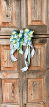 The Caleb Blue & White Baby Shower Bow