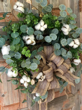 Load image into Gallery viewer, The Abigail Cotton Boll Wreath