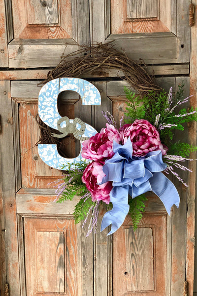 The Stacey Peony Wreath