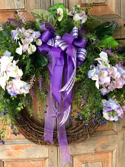 The Truvy Purple Hydrangea Wreath