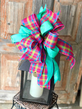 Load image into Gallery viewer, The Bianca Hot Pink Blue & Green Bow