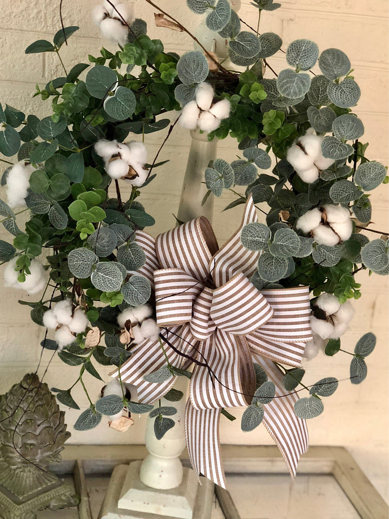 The Abigail Cotton Boll Wreath