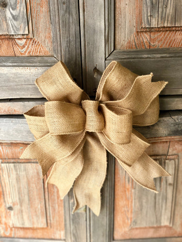 The Ginger Brown Burlap Bow