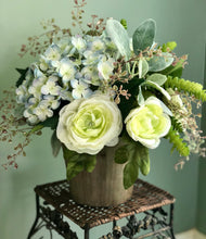 Load image into Gallery viewer, The Sylvia Hydrangea Succulent Centerpiece
