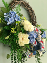 Load image into Gallery viewer, The Jerica Red, White & Blue Wreath