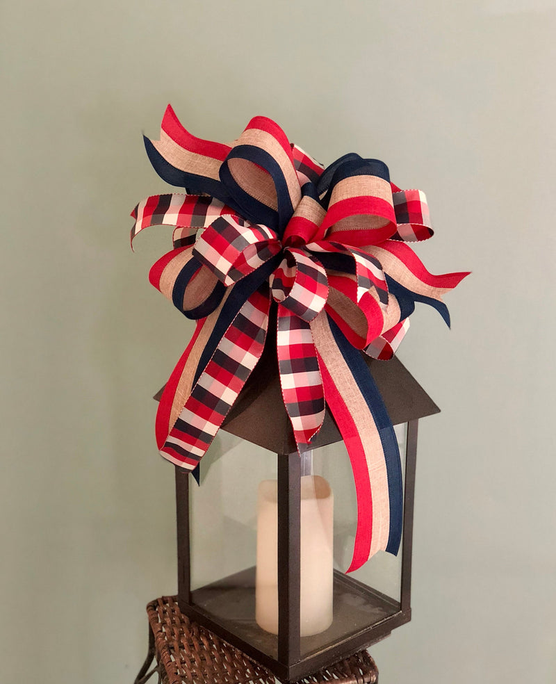 The Virginia Dare Red White & Blue bow