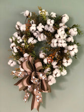 Load image into Gallery viewer, The Carmen Cotton Boll Wreath