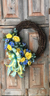 The Haley Blue & Yellow Wreath