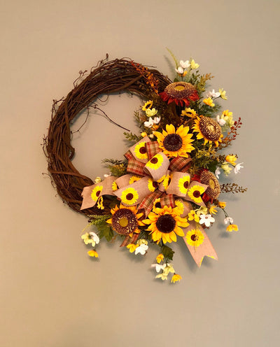 The Cynthia Sunflower Wreath