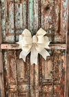The Blanca Cream Burlap Bow
