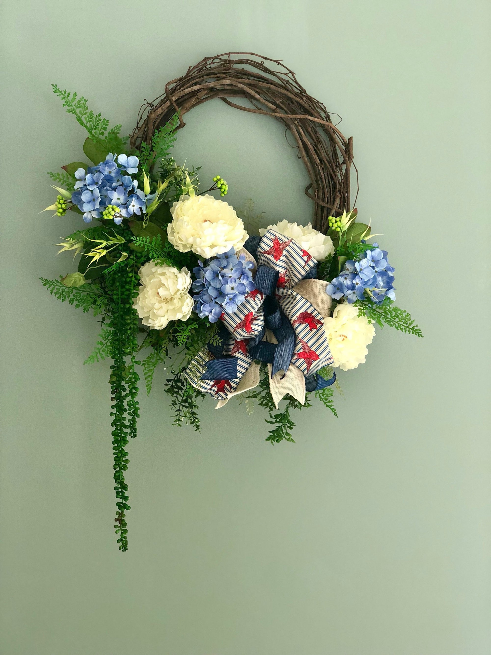 The Jerica Red, White & Blue Wreath