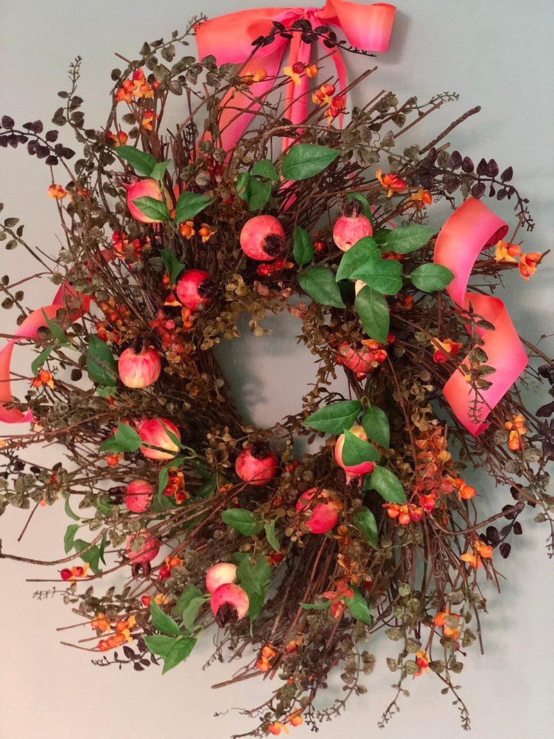 The Kara Pomegranate & Bittersweet Wreath