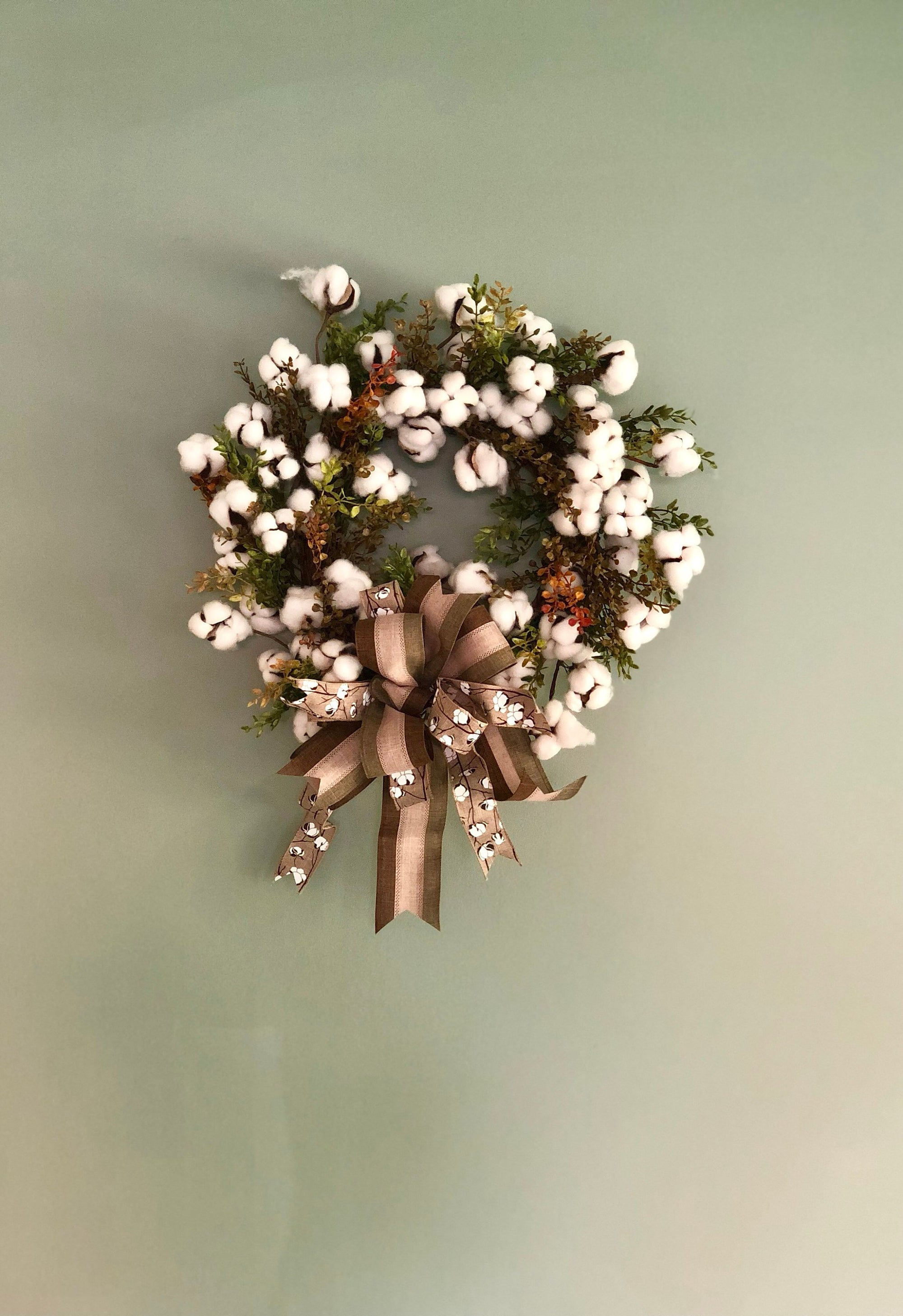 The Carmen Cotton Boll Wreath