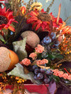 The Mena fall farmhouse centerpiece for tables~autumn harvest arrangement~pumpkin acorn centerpiece~rustic table centerpiece~thanksgiving