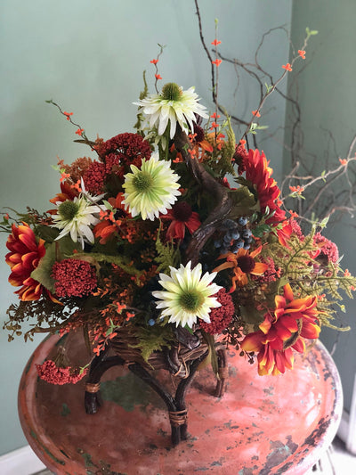 The Aurora XL Fall Wildflower Centerpiece For Table~autumn arrangement~farmhouse rustic centerpiece