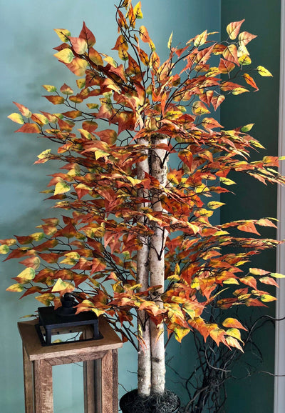 The Thora Faux Birch Bush~Medium birch tree~Office decor~silk birch tree~Home decor~farmhouse decor~large birch bush