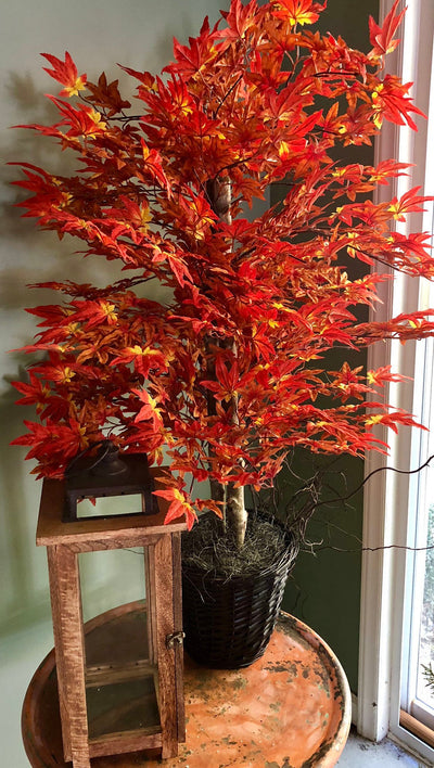 The Mabel Faux Maple Bush~maple tree~Office decor~silk maple tree~Home decor~farmhouse decor~large maple bush~artificial tree for office