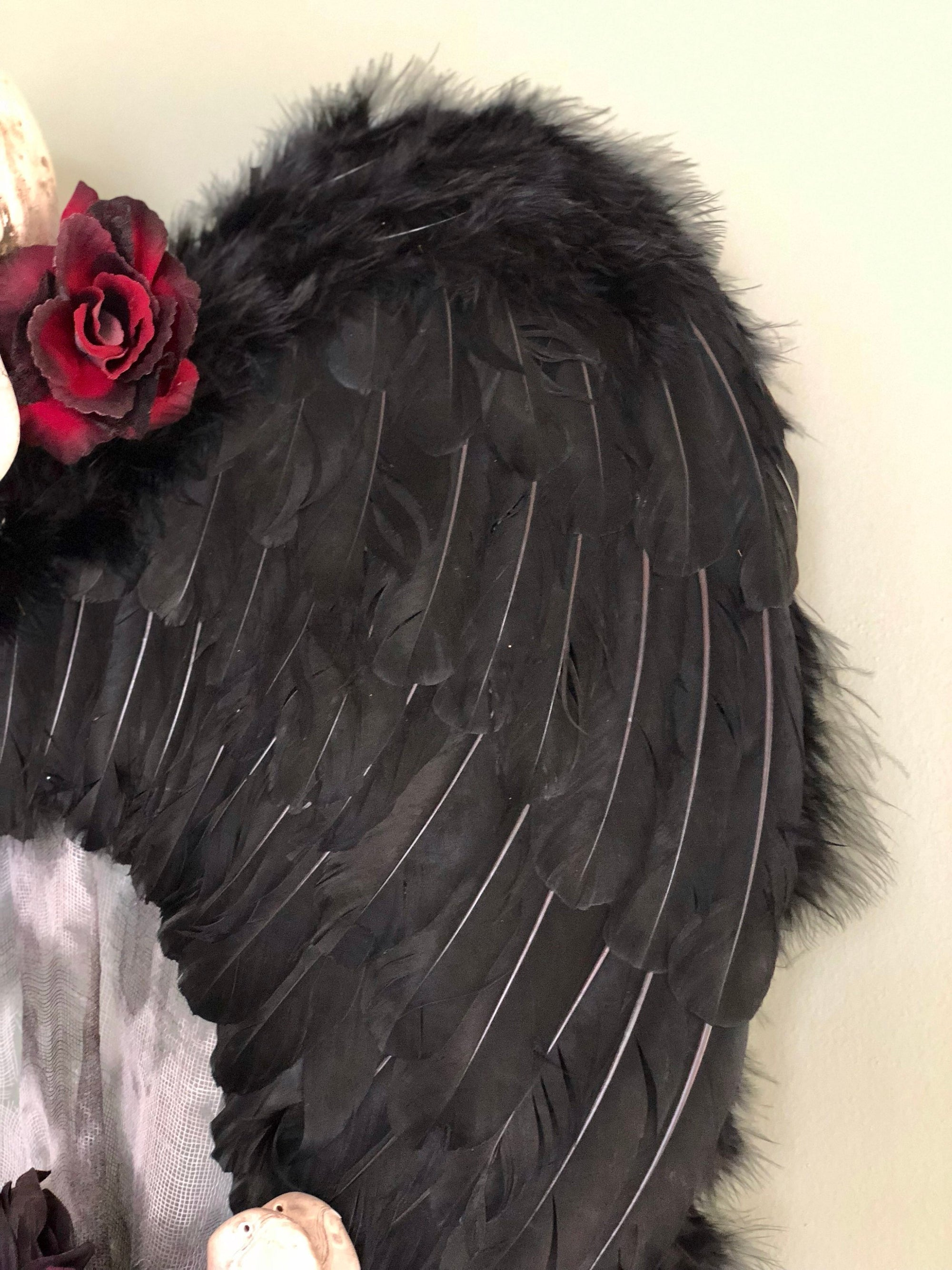 The Ozzy Angel Of Death Halloween Wreath Crested Perch