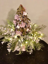 Load image into Gallery viewer, The Meagan Silver Green And Gray Mini Christmas Tree Centerpiece For Table~Winter woodland tree arrangement~elegant xmas centerpiece~natural