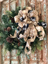 The Cheyenne rustic bow for wreaths~fall bow~mailbox bow~lantern bow~christmas bow~swag bow~country bow~primitive bow~farmhouse decor