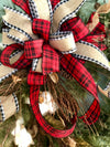 The Sophie Rustic Farmhouse Christmas wreath for front door~natural style pine wreath~winter cabin wreath~cotton primitive wreath