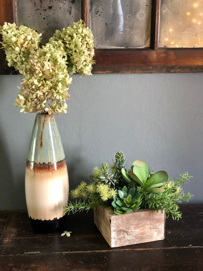 The Lourdes Spring Succulent Centerpiece For Table~All season natural green succulent arrangement~wedding florals~wedding decor~year round