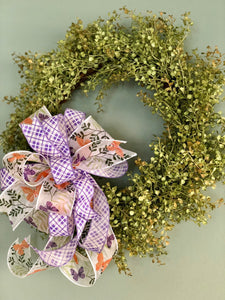 The Venus Lavender & White Sheer Butterfly Bow For Wreaths~Easter decor~spring lantern mailbox decoration~swag adornment~unique party supply