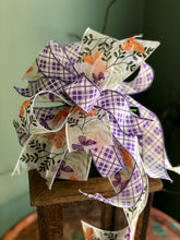 Load image into Gallery viewer, The Venus Lavender & White Sheer Butterfly Bow For Wreaths~Easter decor~spring lantern mailbox decoration~swag adornment~unique party supply