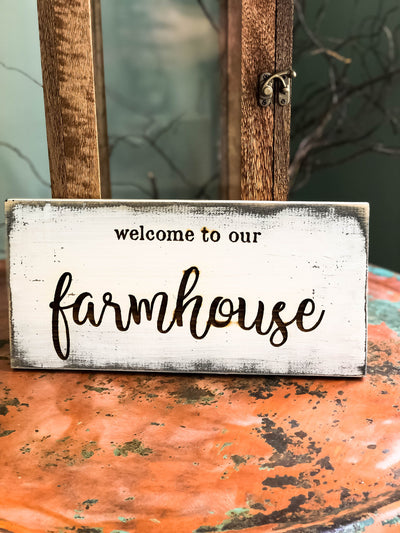 The Walton rustic welcome to our farmhouse distressed sign~farmhouse decor~rustic decor~custom wood sign~cabin decor~inspirational sign