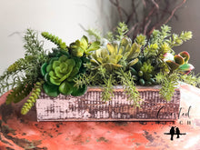 Load image into Gallery viewer, The Veda XL Spring Succulent Centerpiece For Table~All season natural green plant arrangement~wedding floral decor~year round silk flowers