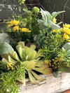 The Uma Spring Mixed Greenery wildflower Centerpiece For Table~All season natural green succulent arrangement~Summer arrangement~year round