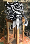 The Geena Black & White Stripe Farmhouse Bow For Wreaths and Lanterns~French country decor~mailbox country decorations~fixerupperdecor