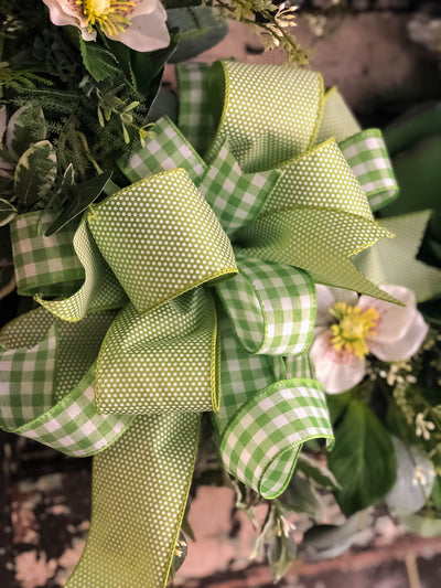 The Jessica Greenery Spring Wreath for front door~French country farmhouse decor~Easter Mothers day~Wedding decorations~fern wreath