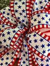 The Betsy Red White & Blue American Flag Bow For Lanterns and Wreaths~fourth of July decor~Independence Day bow~patriotic bow~americana bow