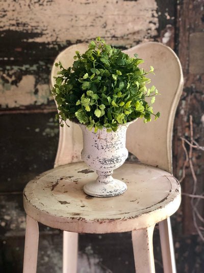The Josie Maiden Hair Fern French Country Cottage Style Topiary Urn For Mantles & Tables~Farmhouse decor~Small greenery centerpiece