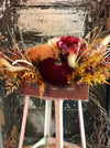 The Emma Fall Pumpkin Centerpiece For Dining Room Table~Thanksgiving centerpiece~Rustic Farmhouse arrangement~Kitchen table silk flowers