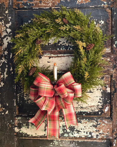 The Eliza Christmas Wreath For Front Door, Traditional wreath, Farmhouse wreath, rustic wreath, Pine wreath, winter wreath, Christmas decor