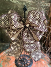 The Emory Black & Tan Bow for Wreaths And Lanterns~Fall decor, Mailbox Bow, Swag bow, Farmhouse bow, Autumn Bow