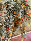 Faux Eucalyptus & Berry Bush, fall artificial flowers, floral arranging supply, wreath making supply, greenery bush, fall greenery