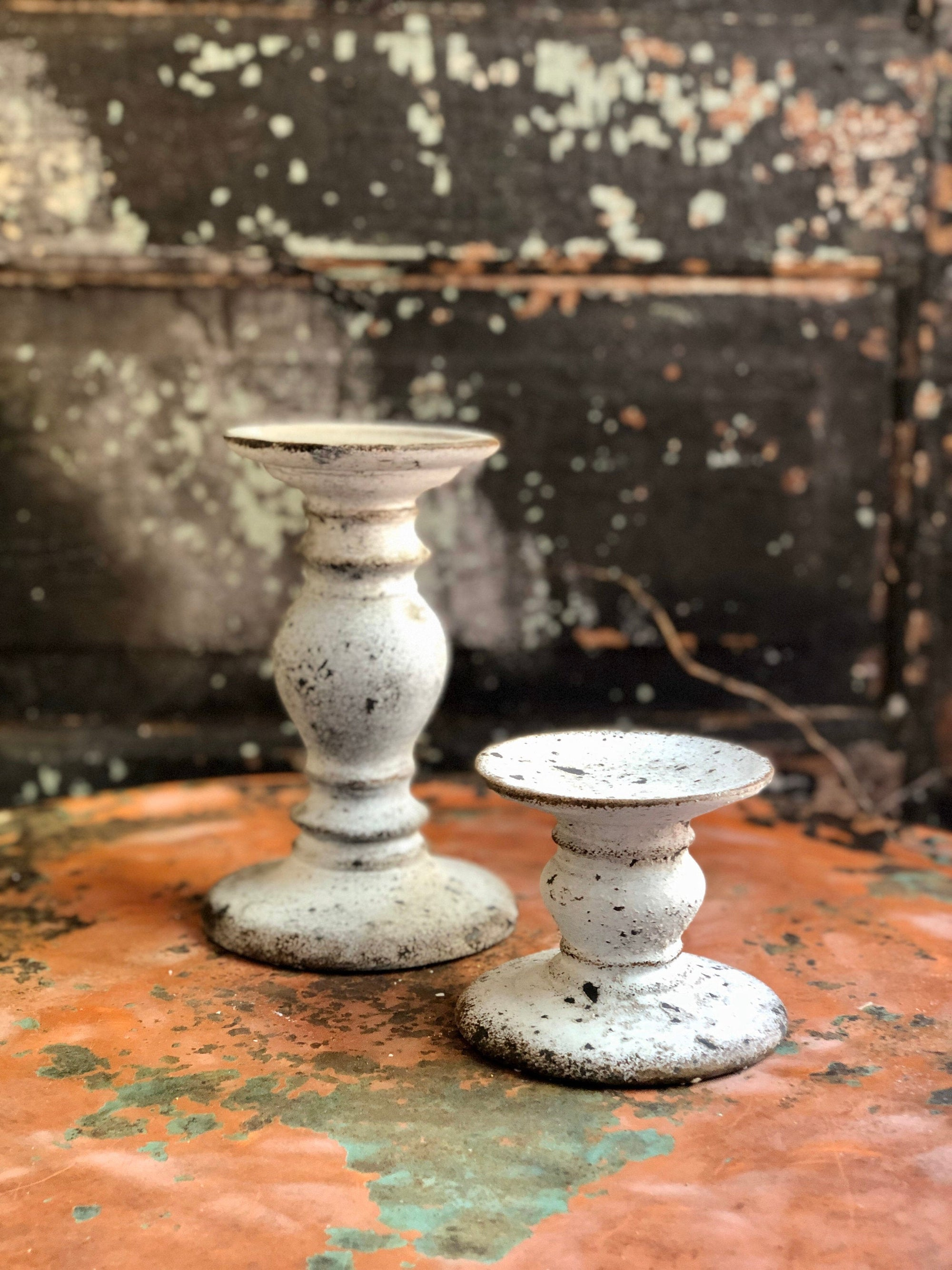 The Cesar Stone Pillar Candle Stand, Pillar candle holder, mantle decor, housewarming gift, rustic candle stand