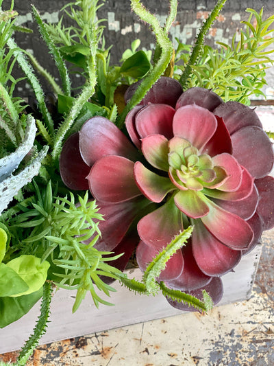 The Harper Succulent Centerpiece For Dining Table, Summer arrangement, year round centerpiece, farmhouse decor, rustic decor